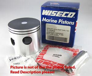 Mercury V6 2L Port 1986-91 135HP Wiseco Outboard Piston 3108S3