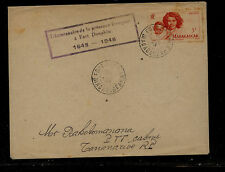 Madagascar  special cancel  cover   1948          EX1013