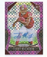 2019 PANINI PRIZM TERRY McLAURIN PURPLE POWER AUTO /49 RC
