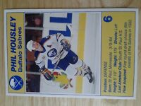 Phil Housley Buffalo Sabres 89-90 NHL Postcard Caps Jets Blues Flames Devils