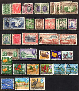 Southern Rhodesia Used Collection Inc GV to 5s & 1964 Short Set to 10s