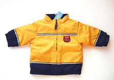 GYMBOREE Firehouse Hounds Yellow Navy Nylon Fleece Boys Jacket 12 - 18 M NEW