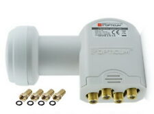 "QUAD LNB 0,1dB Opticum ""TESTSIEGER"" DIGITAL Switch 4 Teilnehmer 4K Ultra HD+ 3D"