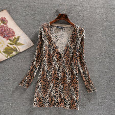 Cardigans Women's Cardigans Leopard Print 3/4Sleeve 100% Cotton Sizes 6-18 BNWT
