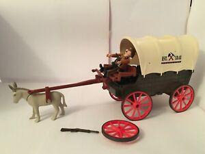 Playmobil Western Wagon rider guns donkey and figure