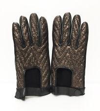 Rag & Bone Metallic Brown Gloves Snap Closure Size 7 New without Tag Retail $275