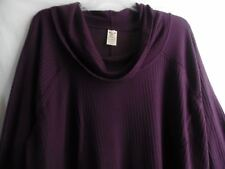 FADED GLORY PURPLE LONG SLEEVE BLOUSE COWL NECK POLY RAYON SPANDEX 4X 26W 28W