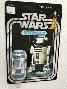 KENNER 1977 VINTAGE R2-D2 ARTOO DETOO ON STAR WARS 12 BACK  CARD A NEW HOPE