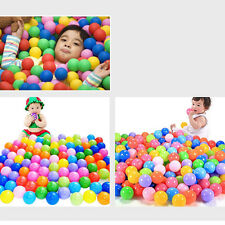 100pcs Secure Baby Kids Pit Toy Swim Fun Colorful Soft Plastic Ocean Ball S2EG