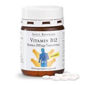 Vitamin-B12-Supra-200 µg-Tabletten | hoch dosiert | 240 Stk. | Sanct Bernhard