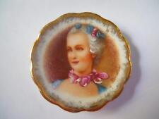 """Miniature Cabinet Plate """"Marie Antoinette"""" Limoges Porcelaine d'Art R P, Boucher"""