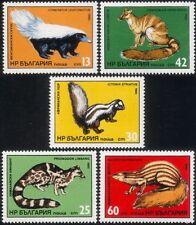 Bulgaria 1985 Civet/Polecat/Mongoose/Animals/Nature/Wildlife 5v set (b8292b)