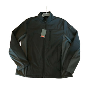 Tumi Men's Soft Shell Stretch Jacket - Black / Gray, Large