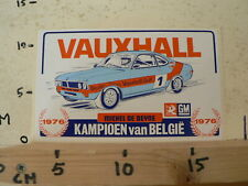 STICKER,DECAL VAUXHALL GULF DEALER TEAM MICHEL DE DEYNE 1976 KAMPIOEN VAN BELGIE