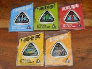 Thunderbirds Are Go Official Tag Badge Iron on Patch Set Thunderbird 1 2 3 4 5