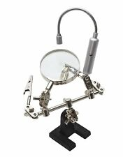 Helping Third Hand Magnifier with Flexible Led Light