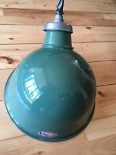 Vintage Old Crossland enamel light fitting industrial vintage lamp