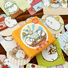 46 Pcs/Box Molang Rabbit Mini Paper Sticker Diy Diary Scrapbooking Seal Sticker