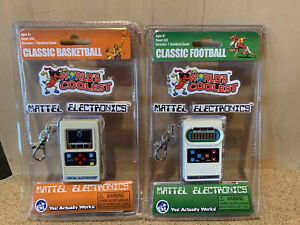 Mattel Electronics World's Coolest Classic Basketball and Football Games - New