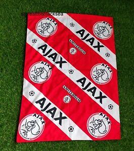 AJAX AMSTERDAM FOOTBALL SOCCER FLAG BANNER FOOTBALL SOCCER RED WHITE