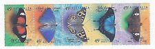 1998 AUSTRALIA SE-TENANT STRIP 'AUSTRALIAN BUTTERFLIES' - 5 x 45c MNH STAMPS