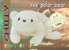 Ty Beanie Babies Bboc Card - Series 1 Retired (Gold) - Chilly the Polar Bear