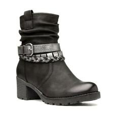 Womens Ankle Boot Buckle Boot in Black by Heavenly Feet