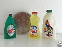 DOLLS HOUSE MINIATURE CLEANING SET -  ARIEL FAIRY & PERSIL Handmade 1:12th scale