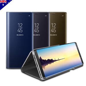 Slim Luxury Mirror Flip Shockproof Case for Samsung S21 S20 S10+ Ultra Note 20