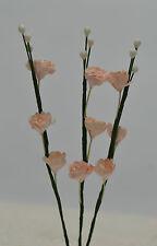 20 VERY PALE PINK GYPSOPHILA SPRAY miniature Mulberry Paper Flowers wedding