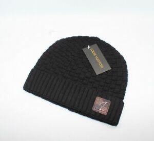Men Womens Beanie Cap Black Hat