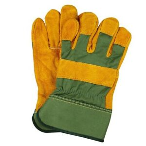 Leather Gardening Gloves Ladies Mens Thorn Proof Thick Work Gauntlets Practical