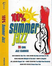 Various 100% Summer Jazz CASSETTE ALBUM Cool Jazz, Soul, Soul-Jazz