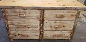 Log 6 drawer dresser   Hand built  Top Quality!!  Rustic Log Furniture  cabin