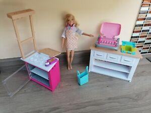Barbie BBQ And Kitchen Furniture & Doll