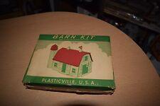 Vintage 1950's Plasticville Barn BN-1 Building Kit w/ Original Box for Trains O