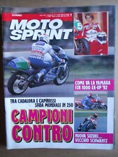 MOTOSPRINT n°7  1992     [Q21]  TEST YAMAHA FZR 1000 EX UP