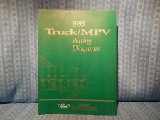 FM1993T 1993 FORD MERCURY TRUCK WIRING DIAGRAMS FACTORY MANUAL