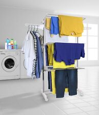 Clothes Airer Drying Rack Extra Large 3 Tier Clothes Drying Rail Foldable