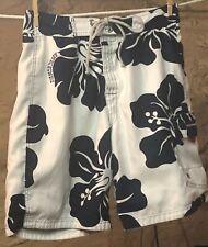 Vintage Men's Abercrombie & Finch Hawaiian Floral Reversible Board Shorts