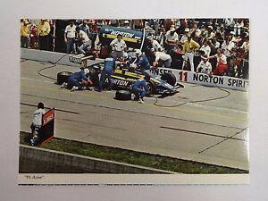 1980 Indianapolis 500 Pit Lane Action # Bobby Unser Penske PC-9 Postcard IMS