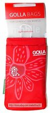 "GOLLA Generation Mobile CELL PHONE BAG 2 Pockets w/Clip RED FLOWER 5.5"" x 3"" NEW"