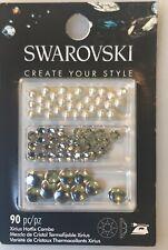 Swarovski Create Your Own Style 90 Piece Xirius Hotfix Crystal Combo Craft Jewl