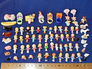 POLLY POCKET FIGURES - RINGS -EARRINGS - VINTAGE - Please Choose from the List:-