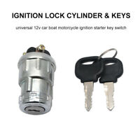 Car Truck Boat 3 Position Ignition Lock Starter Key Switch Barrel With 2 Keys