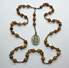 † NUN Antique BROWN WOODEN Beads, SERVITE SORROWS Rosary †