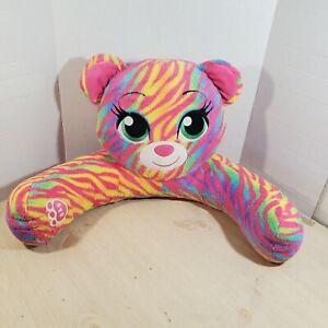 Build-A-Bear Pink Rainbow Zebra Bear Chair Stuffed Animal Plush Pillow Doll