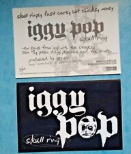 Iggy Pop -skull ring- rare 2003 promo sticker-unused