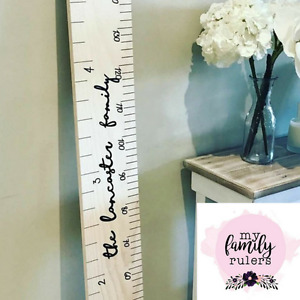 The Original Wooden Ruler Height Growth Chart - Personalised - Home Decor Baby