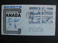 Canada sports set Sc 365-8 on Ken Boll, Cachet Craft FDC first day cover